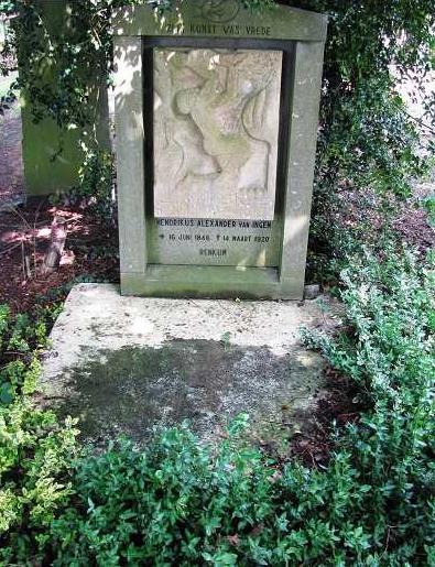 Het graf van de schilder H.A. van Ingen.