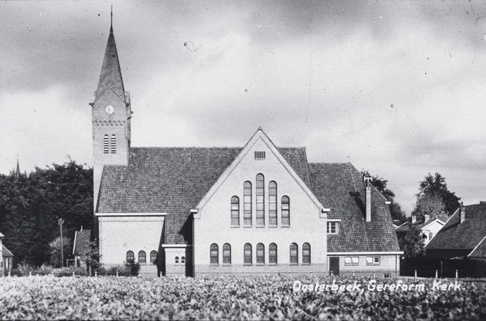 De tweede gereformeerde kerk op de zuidhoek van het kruispunt Jacobaweg/ Van Toulon van der Koogweg, gebouwd in de jaren `20 van de twintigste eeuw.