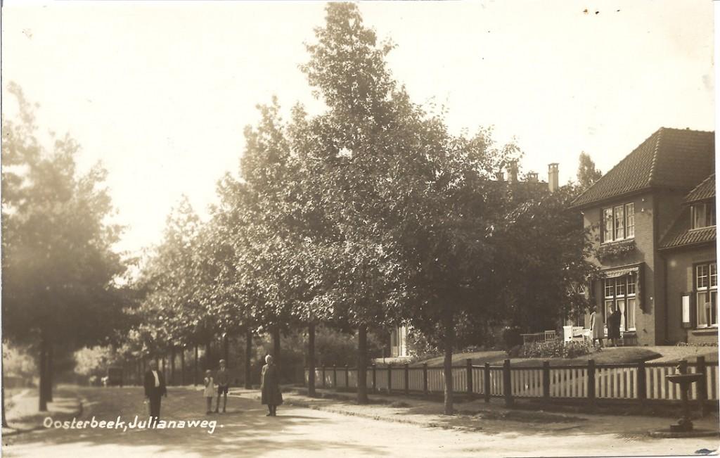 Julianaweg nabij de Utrechtseweg.