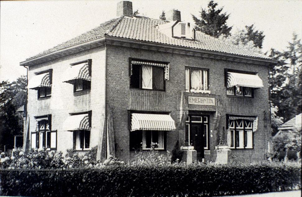 "Pension ""Emerentia"", Grindweg 5, rond 1930."