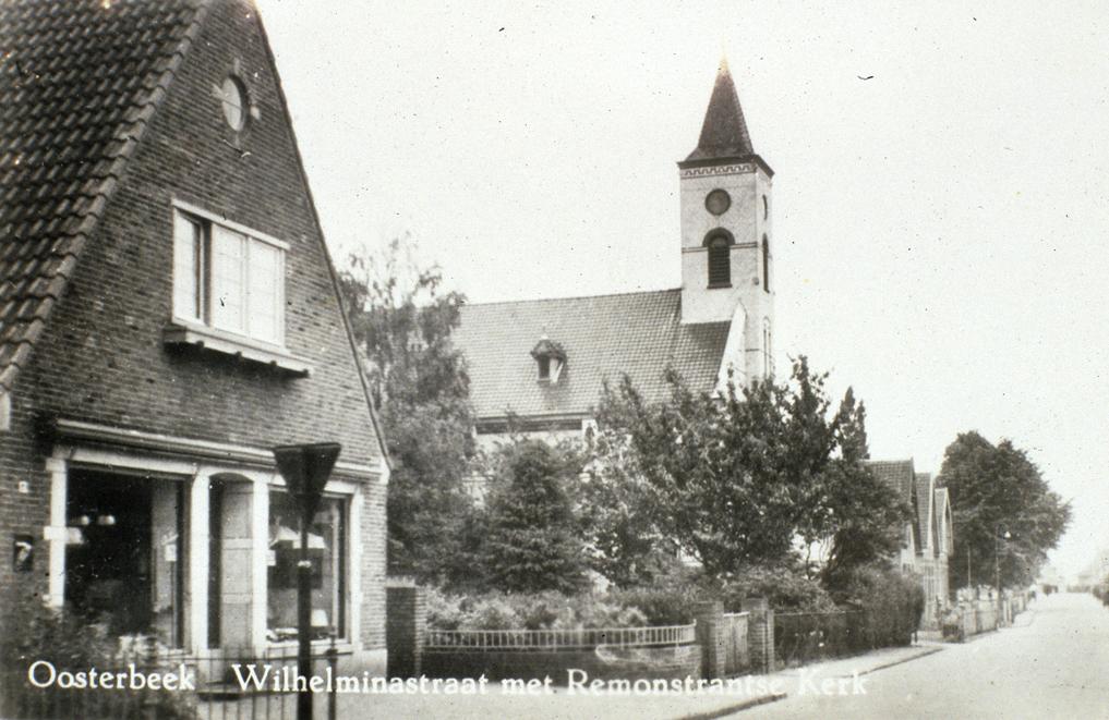 2977 Wilhelminastraat met Remonstrantse Kerk O'bee
