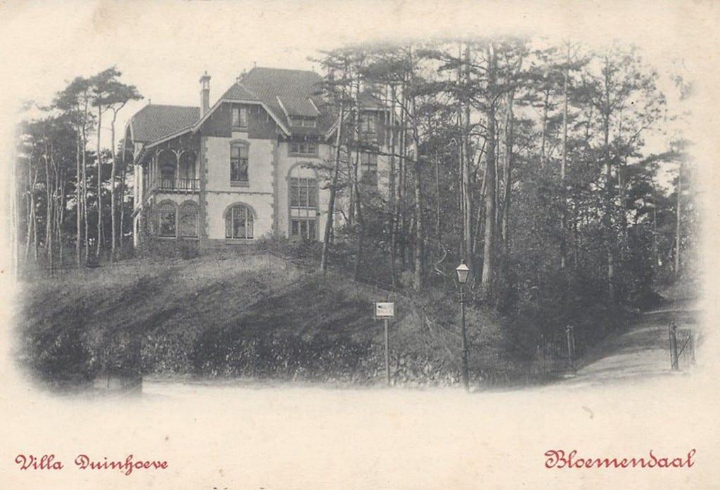 Duinhoeve van het echtpaar Wolterbeek- van Eeghen rond 1900