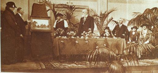 Afscheid van burgemeester Van der Molen op 19 oktober 1934
