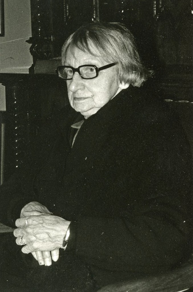 Gusta Elise Prins op latere leeftijd.