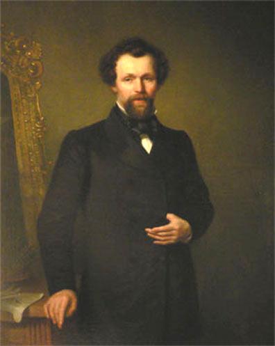 Portret van Frederik Hendrik Hendriks door B. L. Hendriks. Collectie Museum Veluwezoom.