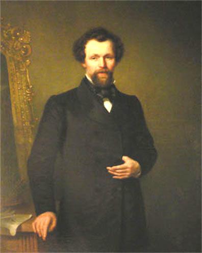 Portret van F.H. Hendriks door B.L. Hendriks, 1862 (collectie Museum Veluwezoom Doorwerth)