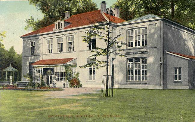 """Het tweede gebouw van de kostschool voor jonge heren """"Het Hemeldal""""."""