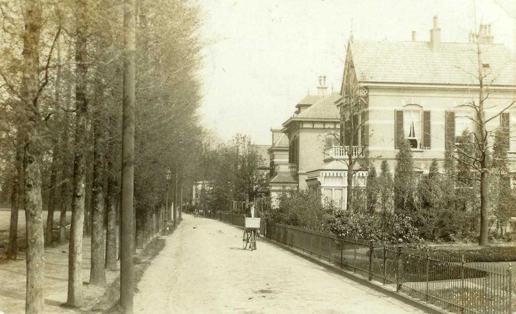 De westelijk van de Pietersbergseweg gelegen grond, na vwerkaveling in de jaren 50 de Talsmalaan, bestond rond 1913 uit akkers. Het vrijwe uitzicht vanuit de villaas blijkt uit deze ansichtkaart gedateerd 2 september 1913.