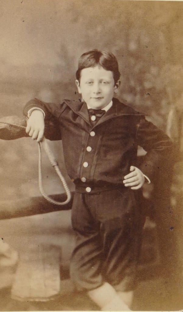 Robert Danieel jr. op vijfjarige leeftijd in 1874. Hij zou zich later in de VS vestigen.