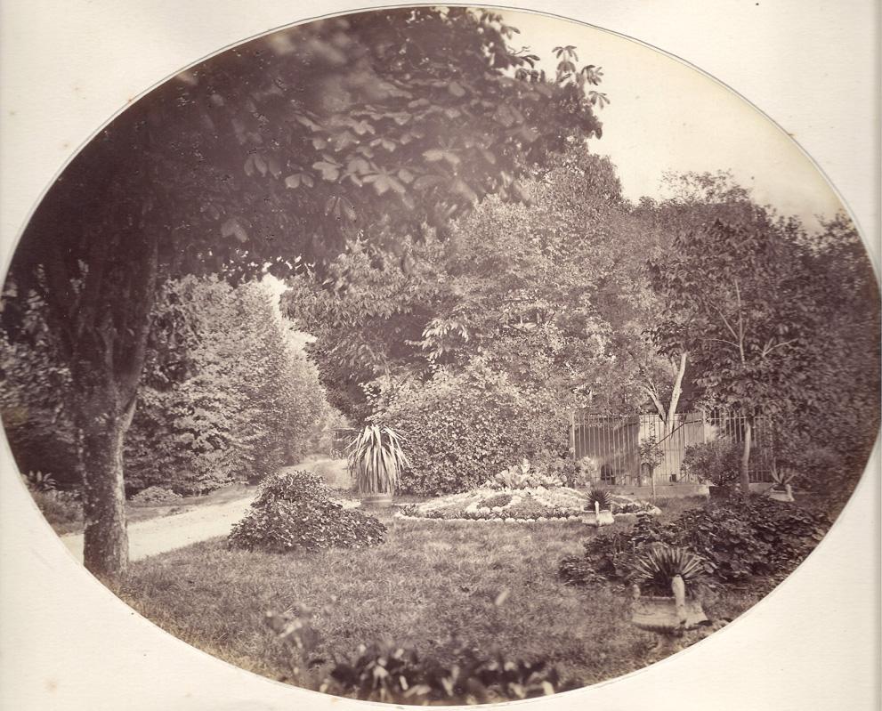 """De tuin onmiddelijk achter het huis """"Valkenburg""""."""