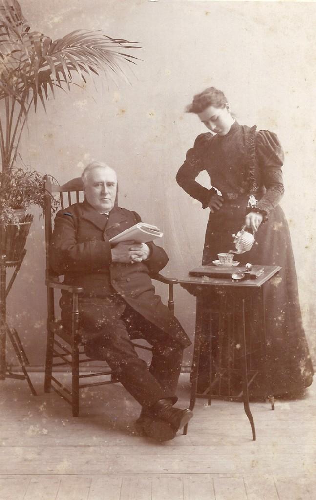 Willem Pieter Wolterbeek met dochter