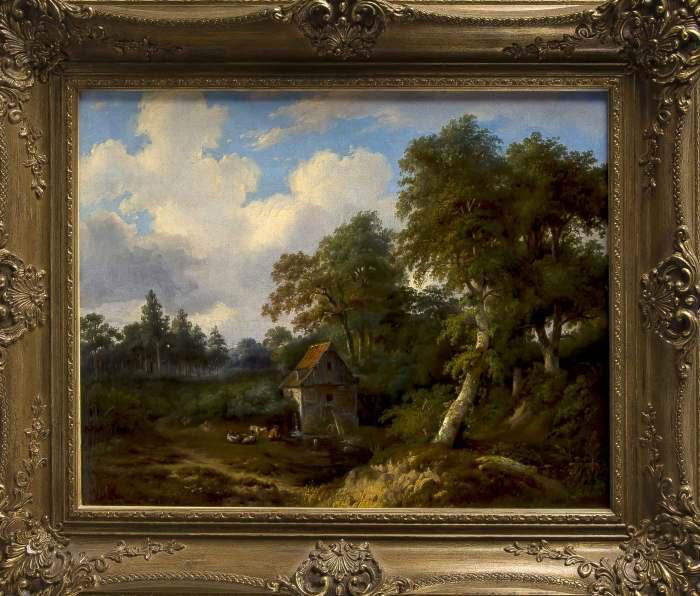 Landschap met watermolen. F.H. Hendriks. (particuliere collectie)