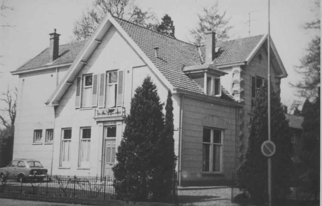 Het huis op Joubertweg 1 voor de sloop in 1973.