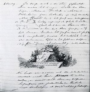 fragment uit het dagboek van Alexander Ver Huell.