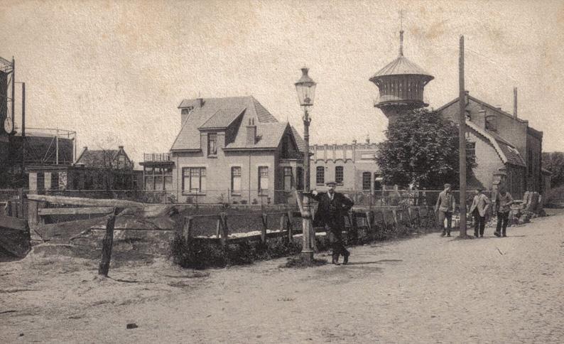 De gasfabriek van Nijkerk in 1899