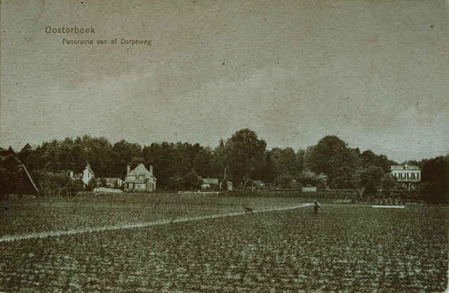 De Eng met op de achtergrond Vreeberg, Roestenburg, tuinmanswoning van de Pietersberg en Rijnheuvel.