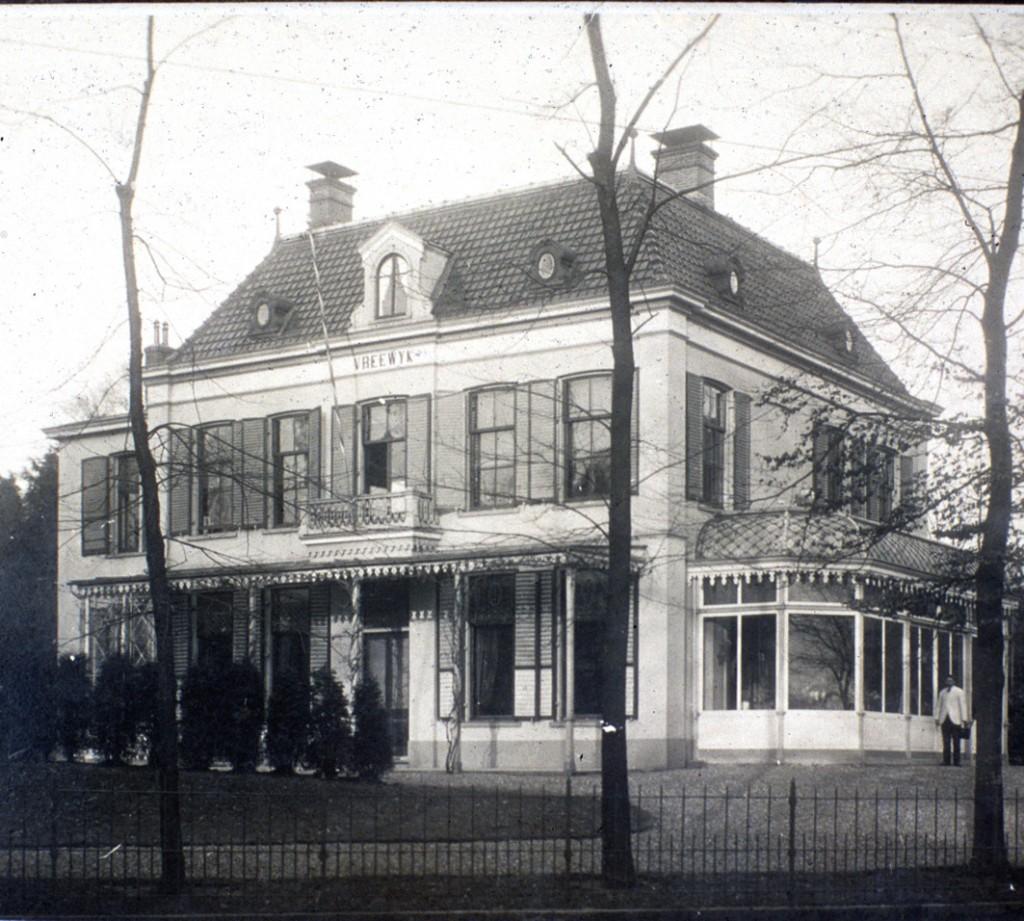 """Villa """"Bertha"""", na aankoop door revens herdoopt in """"Vreewijk""""."""