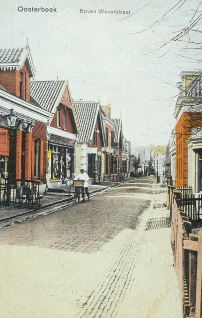 Weverstraat even voorbij de Cornelis Koningstraat, toen Smidspad geheten.