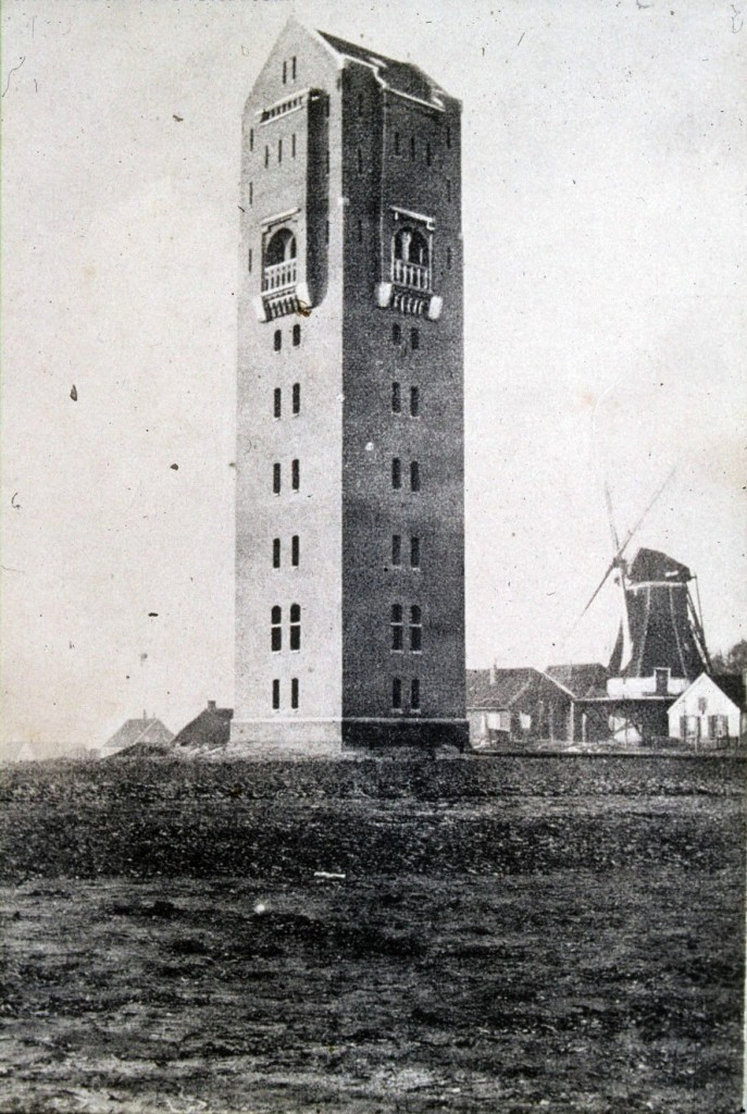 De watertoren van Mathijs Sanders aan de Molenweg.
