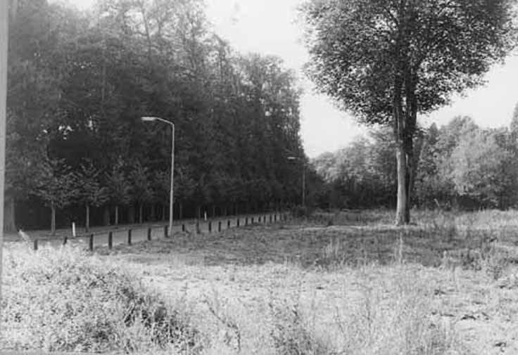 Na de sloop in de jaren `70 zag men vanaf een braakliggende Molenberg de plek van de voormalige huizen aan de Fangmanweg.