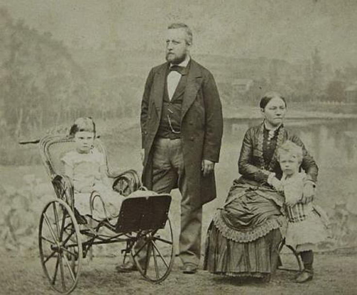 Pieter van Eeghen, Maria de Clercq, Catharina Maria en Christiaan Pieter rond 1883
