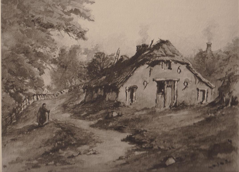 aquarel nummer 6 uit het Album van Oud- Oosterbeek.