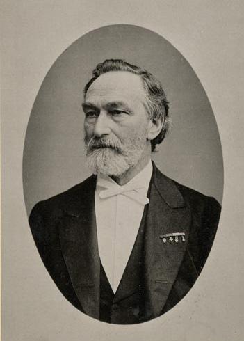 Portret van Frans Coenen foto: Frans Wilhelm Heinrich Deutmann (1840-1906)