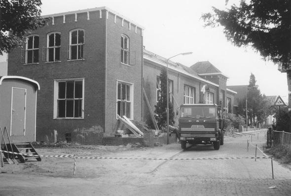 De sloop van de tweede Paasbergschool.