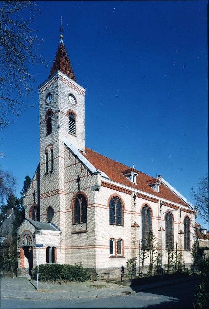De remonstrantse kerk aan de Wilhelminastraat te Oosterbeek.