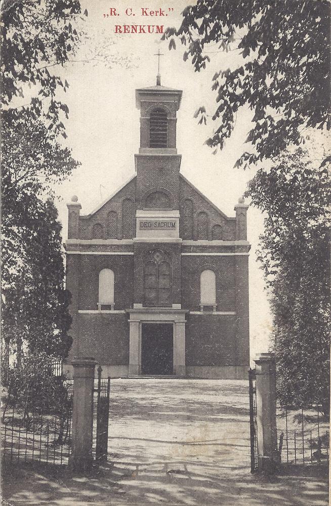 """R.K. kerk """"Deo Sacrum"""", de derde katholieke kerk van Renkum"""