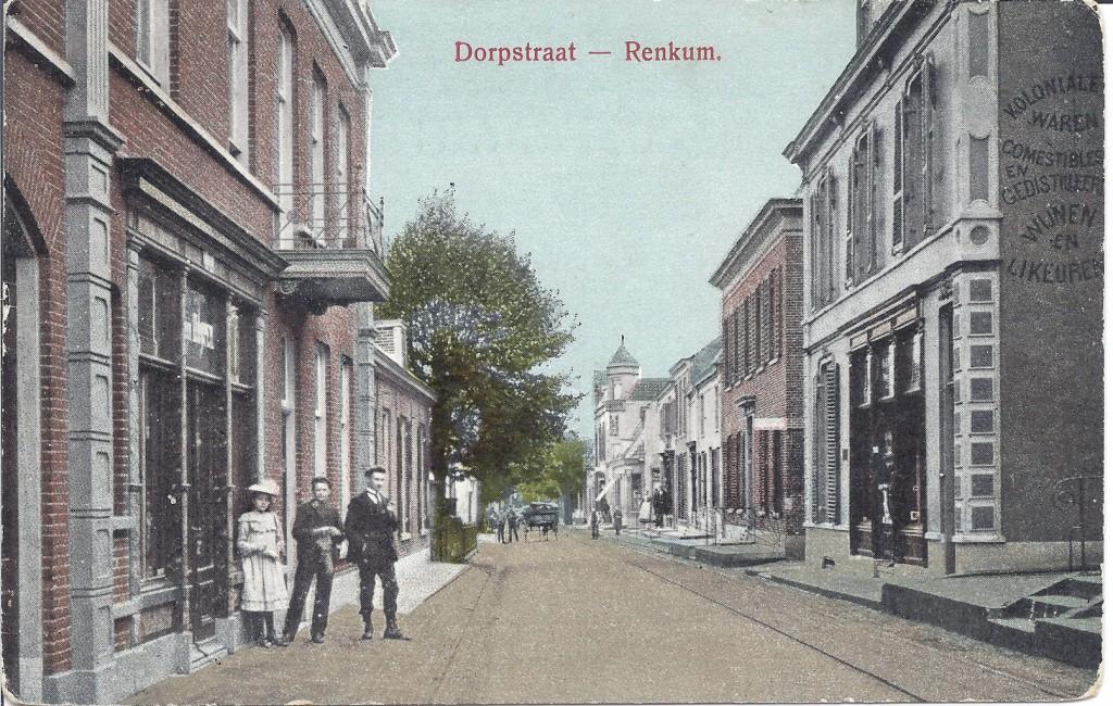 """Links het brede pand van Ten Hoopen, met in het linkerdeel de bergplaats. Rechts daarvan de """"Salon de Refraichissement"""" van Scheffer."""