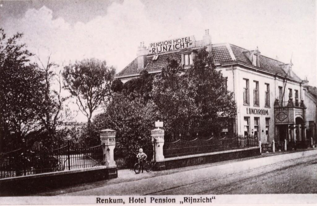 Rijnzicht, inmiddels geworden tot Hotel en Pension, foto ca. 1930