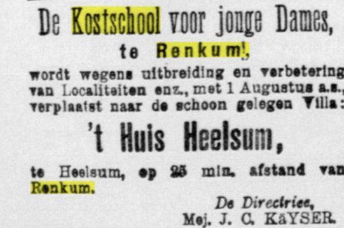 Annonce de Telegraaf 24-06-1899