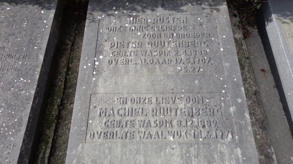 Het graf van Pieter ruitenberg