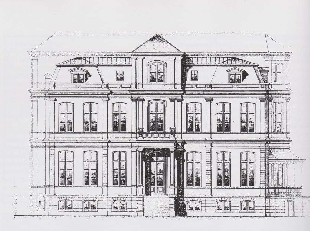 """Het door Eberson ontworpen huis """"Cortenbergh"""" dat  Van Rechteren kocht van Reinhard Crommelin die het had laten bouwen."""