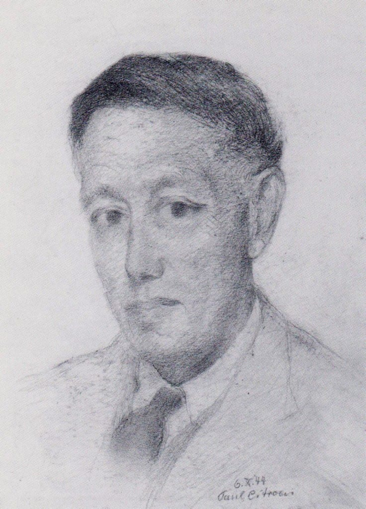 Poertret van Frits Eschauzier door Paul Citroen, 1944.