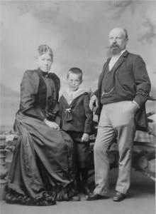 Willem Scheffer, Tru van Houten en pleegzoon Franz rond 1890