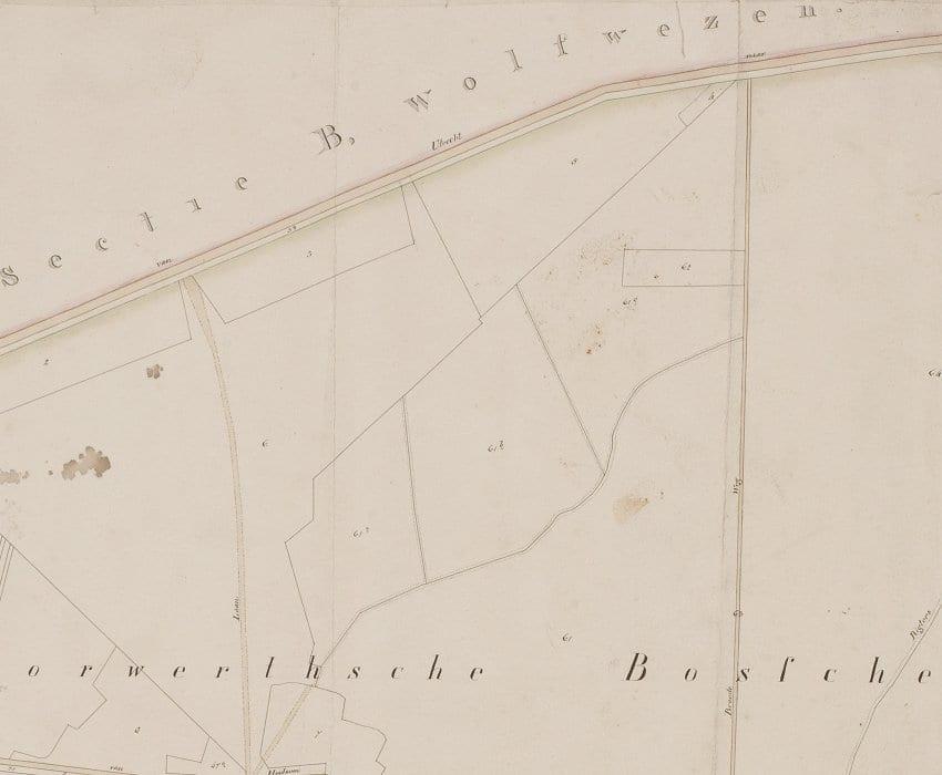 Omgeving Baron van Brakellaan rond 1818