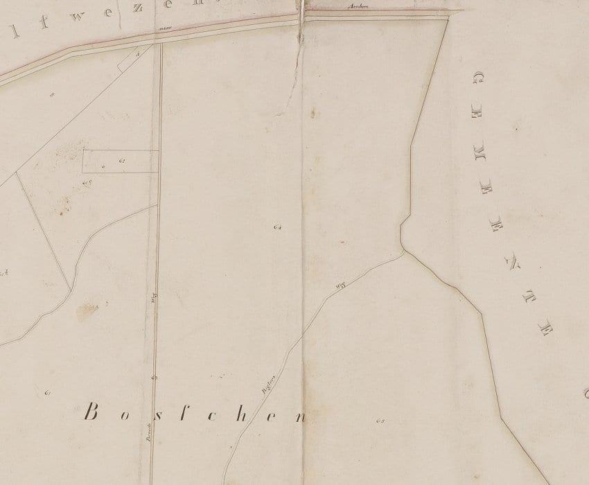 Omgeving van de Beethovenlaan rond 1818
