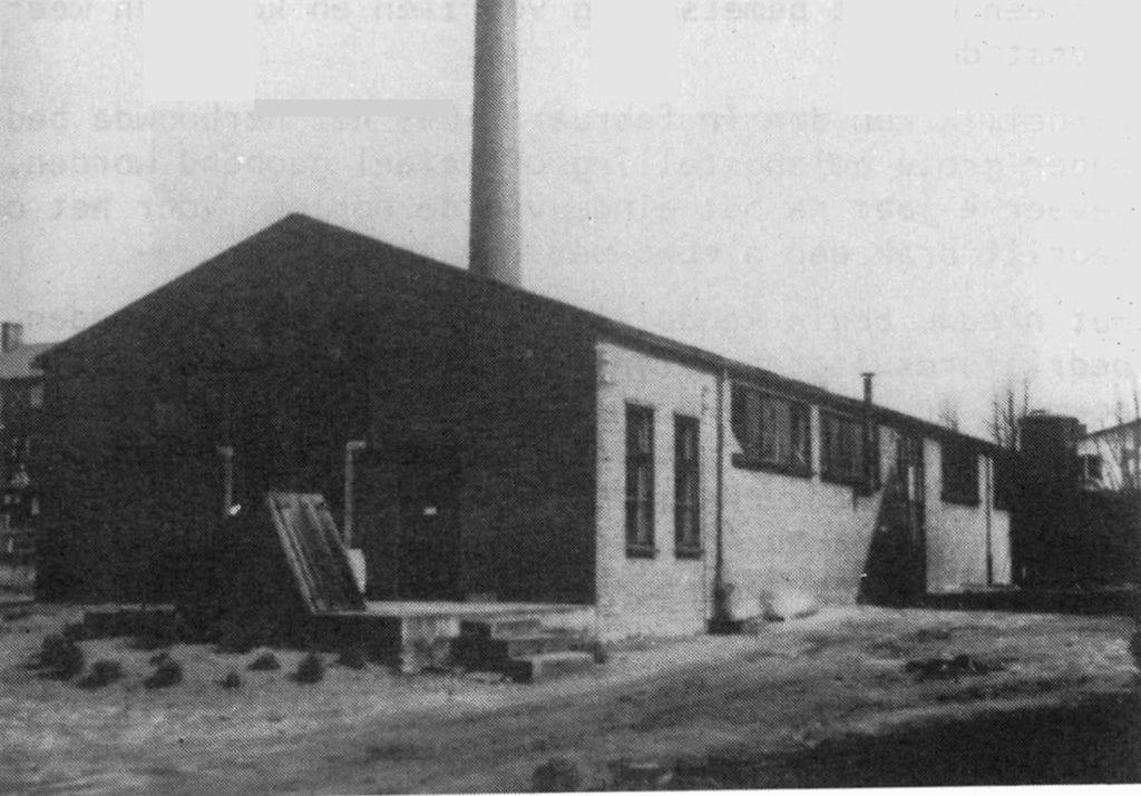 De opnieuw gebouwde fabriek in 1949